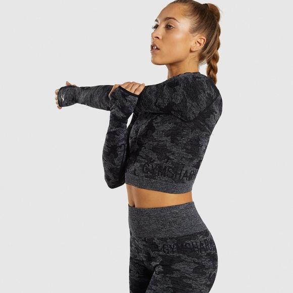 big discount huge discount 2019 discount sale Black Gymshark Camo Set~Medium Top+Small Legging NWT